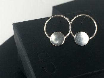 Stud Earrings - Circle Circle