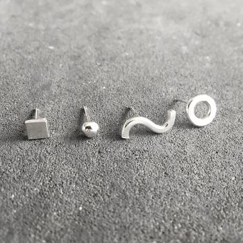 Stud Earrings - Quad Millie Set