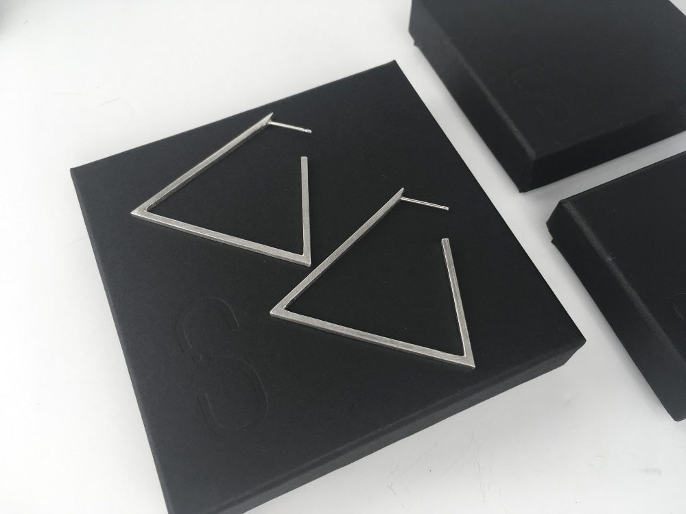Hoop Earrings - Big Triangle