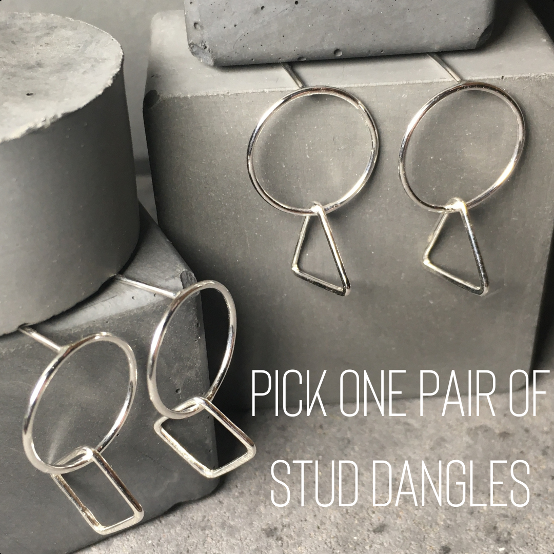 Circle|Shape Dangle Earrings