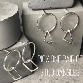 Circle|Shape Dangle Earrings