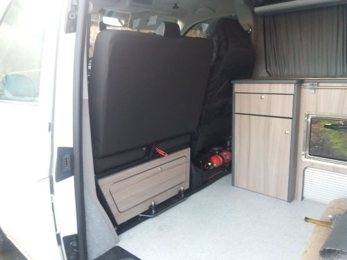 VW T5 / T6 double passenger under seat locker kit