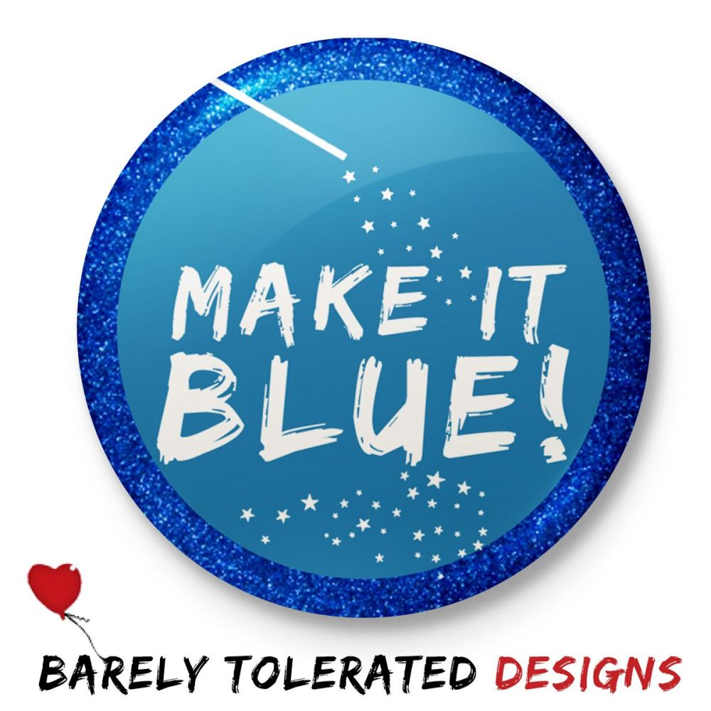 Make It Blue (Glitter Border)