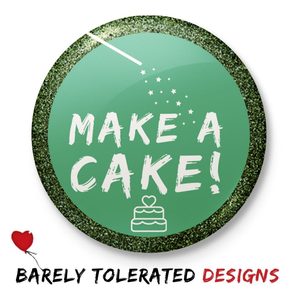 Make a Cake (Glitter Border)
