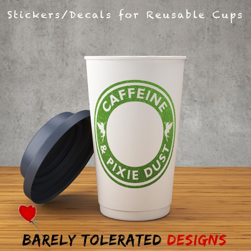 Caffeine & Pixie Dust - Decal/Sticker