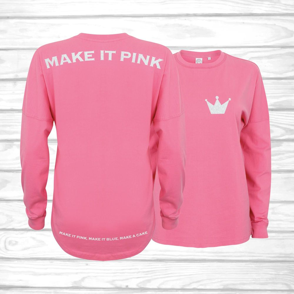 Make It Pink Tolerated Oversized Unisex Jersey