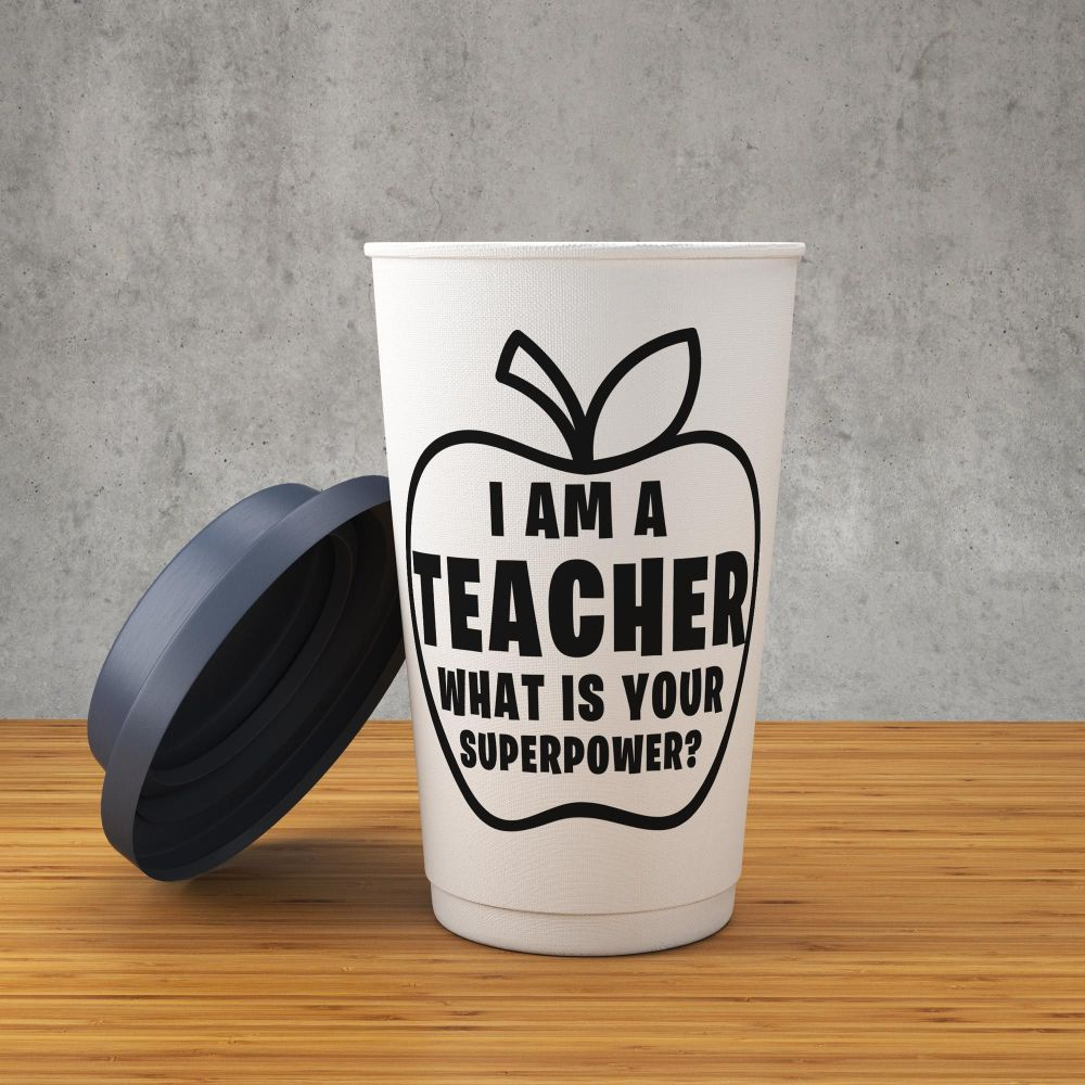 I Am A Teacher - What Is Your Superpower? Decal/Sticker