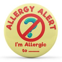 Customised Allergy Alert - I'm Allergic to...