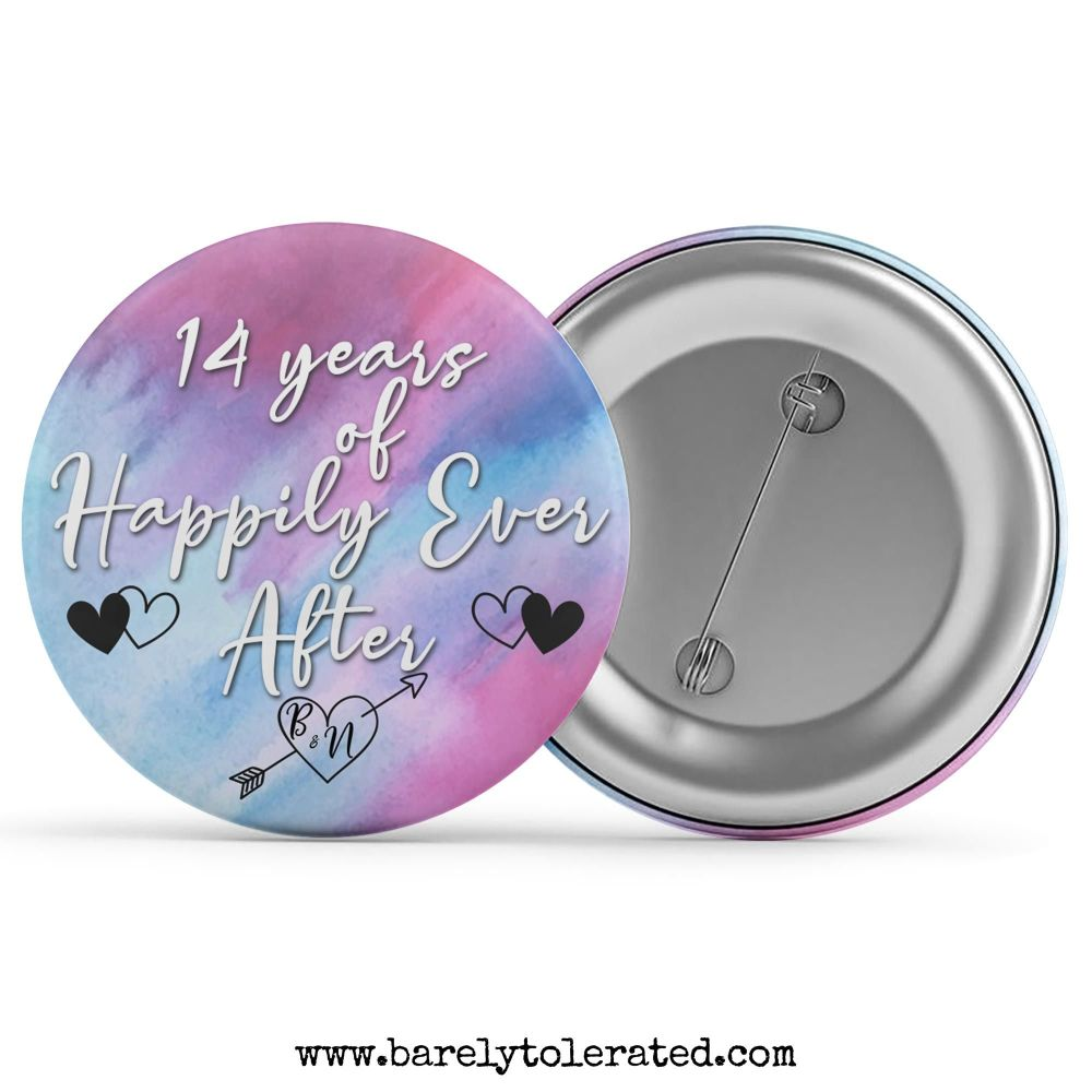 Customised x years of happily ever after