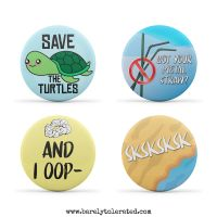 VSCO Set of 4 38mm Badges (Set1)