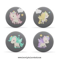 Unicorn Set of 4 38mm Badges