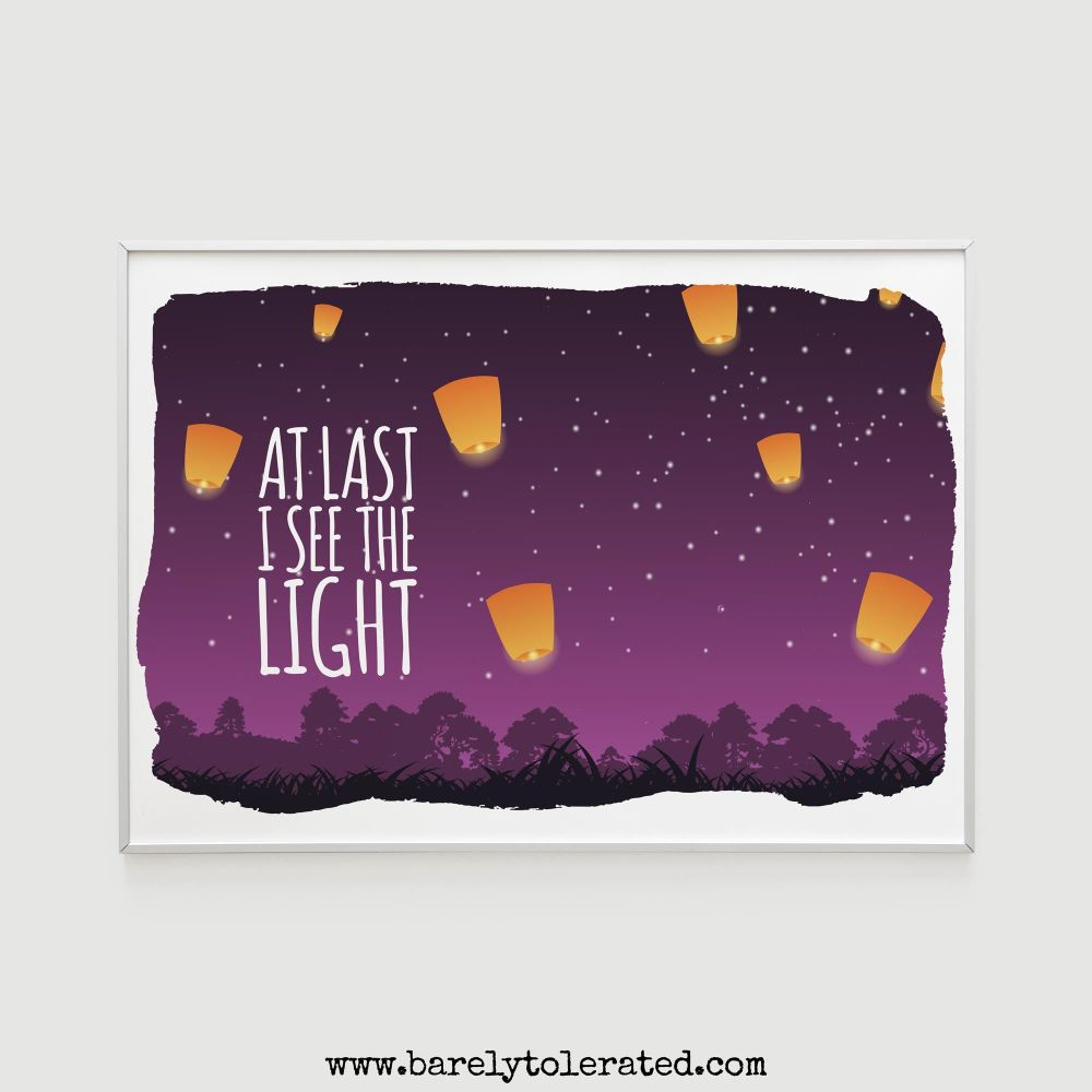 See the Light Wall Print