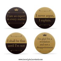 Set of 4 Downton Abbey Inspired Badges