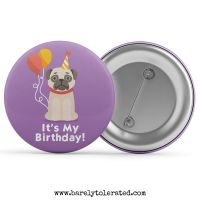 It's My Birthday - Pug with Balloons