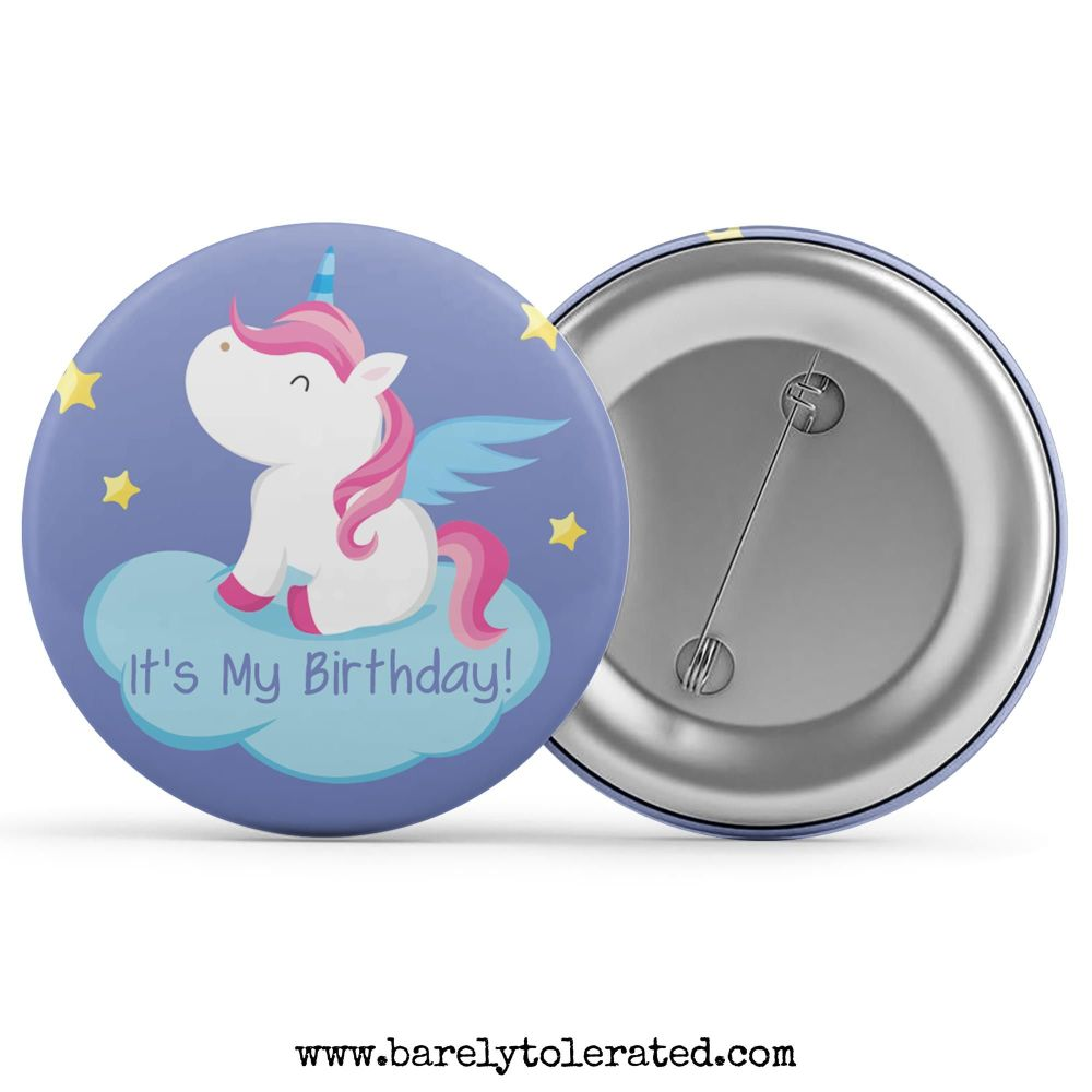 It's My Birthday - Unicorn Blue Cloud