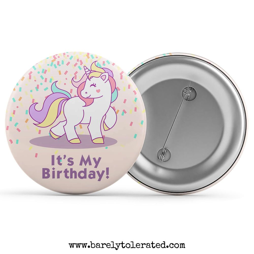 It's My Birthday - Unicorn Confetti