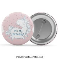 It's My Birthday - Unicorn Pink Stars