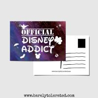 Official Disney Addict Postcard