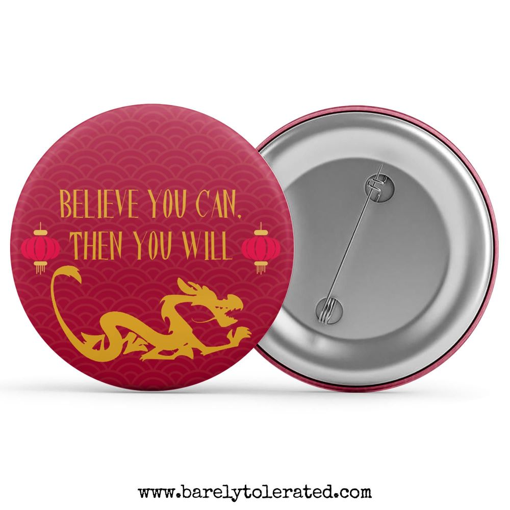 Believe You Can, Then You Will