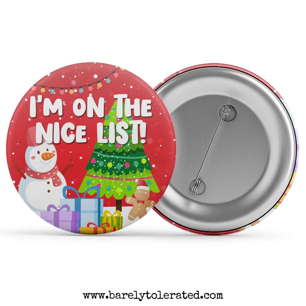 I'm On The Nice List