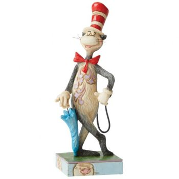 The Cat in the Hat with Umbrella Figurine 6006239