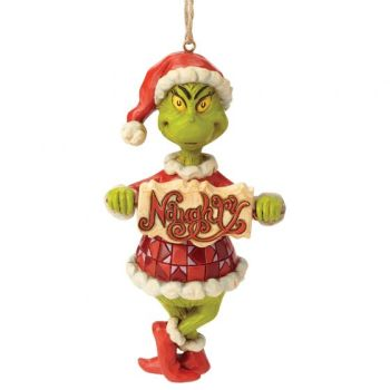 Grinch Naughty or Nice Sign Hanging Ornament 6002073