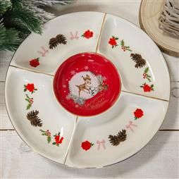 DISNEY BAMBI ENCHANTED FOREST CHRISTMAS SERVING PLATE PRODUCT CODE: XM8641