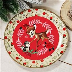 DISNEY BAMBI ENCHANTED FOREST  DINNER PLATE PRODUCT CODE: XM8640