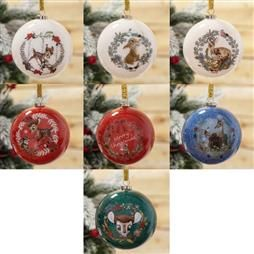 DISNEY BAMBI ENCHANTED FOREST SET OF 7 GLITTER BAUBLES PRODUCT CODE: XM8643