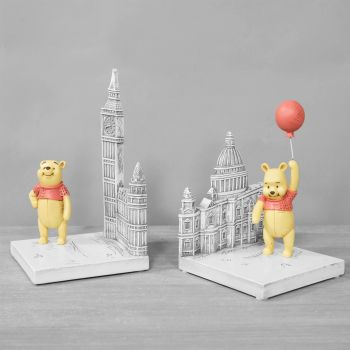 DISNEY CHRISTOPHER ROBIN RESIN WINNIE THE POOH BOOKENDS PRODUCT CODE: DI558
