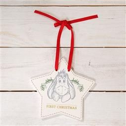 DISNEY BABY'S FIRST CHRISTMAS HANGING PLAQUE - EEYORE PRODUCT CODE: XM6108