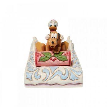 A Friendly Race - Donald & Pluto Sledding Figurine 6008973