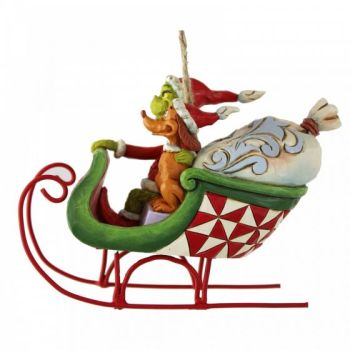 Grinch & Max in Sleigh Hanging Ornament 6008895