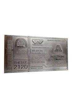 Alien Replica Nostromo Ticket Limited Edition (silver plated) FNTK-AL-SILV