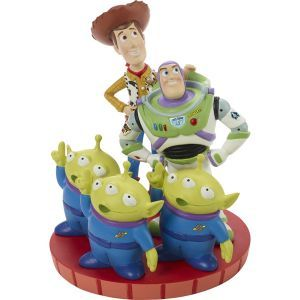 Disney and Pixar We Look Up To You Woody, Buzz and Martian Figurine 191701