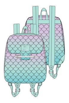 Disney by Loungefly Backpack Little Mermaid Ombre Scales LF-WDBK1473