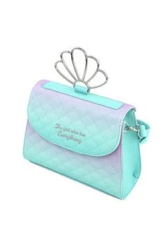 Disney by Loungefly Crossbody Little Mermaid Ombre Scales Shell LF-WDTB2168