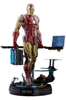 Marvel The Origins Collection Comic Masterpiece Action Figure 1/6 Iron Man Deluxe Version 33 cm HOT908152