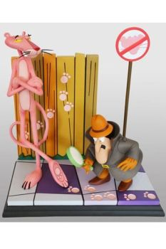 The Pink Panther Statue Pink Panther & The Inspector 41 cm HCG9420