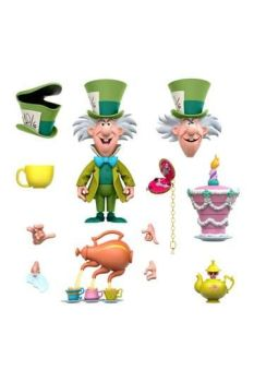 Alice in Wonderland Disney Ultimates Action Figure The Tea Time Mad Hatter 18 cm SUP7-DE-WLANW02-MHT-01