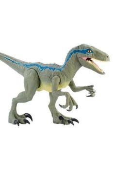 Jurassic World Dino Rivals Action Figure Super Colossal Velociraptor Blue 45 cm MATTGCT93