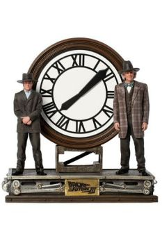 Back to the Future III Deluxe Art Scale Statue 1/10 Marty and Doc at the Clock 30 cm IS12798