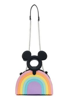 Disney by Loungefly Crossbody Mickey Mouse Pastel Rainbow LF-WDTB1924