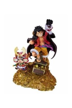 One Piece FiguartsZERO PVC Statue Monkey D. Luffy Eiichiro Oda Illustration Daikaizoku Hyakkei 19 cm BTN61512-1