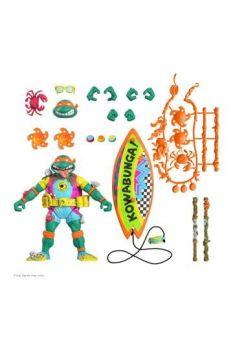 Teenage Mutant Ninja Turtles Ultimates Action Figure Sewer Surfer Mike 18 cm SUP7-UL-TMNTW06-SRS-01