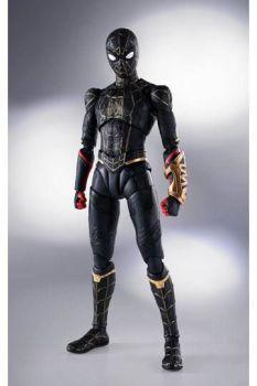 Spider-Man: No Way Home S.H. Figuarts Action Figure Spider-Man Black & Gold Suit (Special Set) 15 cm BTN63007-0