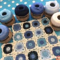 Delft Tiles Scarf kit