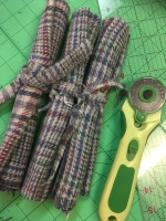 Upcycled vintage tweed for waistcoat - gorgeous tartan