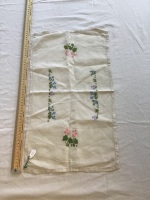 Vintage Linens - embroidered tray cloth 16