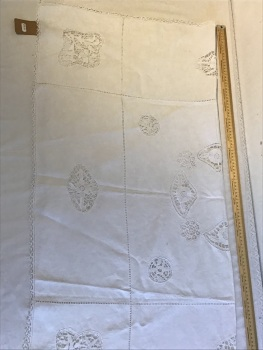 Lace and cut work tablecloth